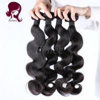 Peruvian virgin hair body wave 4 bundles natural black color free shipping