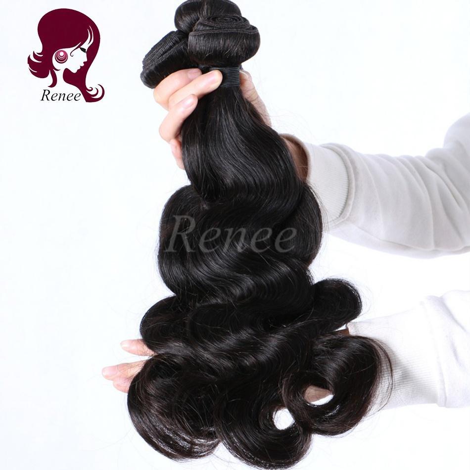Peruvian virgin hair body wave 3 bundles natural black color free shipping