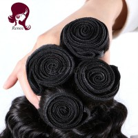 Peruvian virgin hair deep wave 3 bundles natural black color free shipping