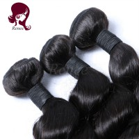 Peruvian virgin hair loose wave 3 bundles natural black color free shipping