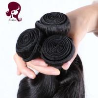 Brazilian virgin hair loose wave 3 bundles natural black color free shipping