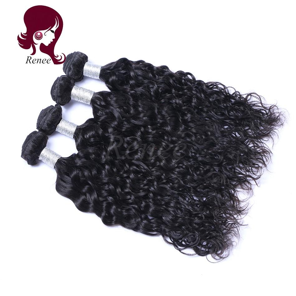 Peruvian virgin hair natural wave 4 bundles natural black color free shipping