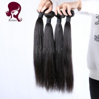 Peruvian virgin hair silky straight 4 bundles natural black color free shipping
