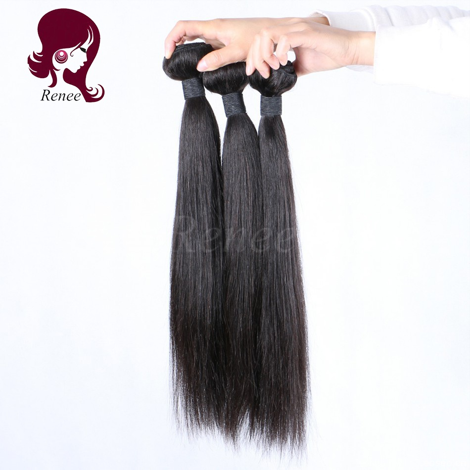 Peruvian virgin hair silky straight 3 bundles natural black color free shipping