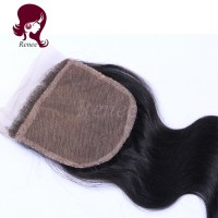 silk base closure body wave peruvian virgin hair natural black color